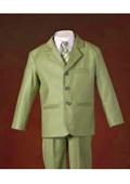 Boys Olive Suit