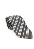 Classic Brown Striped Necktie