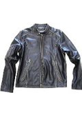 Leather Moto Jacket Distressed