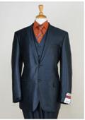 Mens Metallic Blue Suit