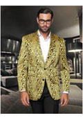 Sequin Shiny Flashy Silky Satin Stage Fancy Colored Party Dance Mens Gold Fancy Woven Pas