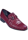 Gator Skin Loafer– Burgundy