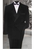 Breasted Mens Black Tuxedo