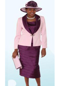 Lynda Couture Promotional Ladies Suits- Purple With Pink