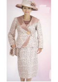 Lynda Couture Promotional Ladies Suits- Brown With Gold