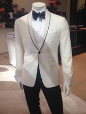 Mens Dress Formal Ivory Dinner Jacket