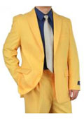 Mens Two Button Style Gold ~ Yellow ~ Tangerine Color Discounted Affordable Suit