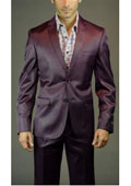 Mens Burgundy Suit