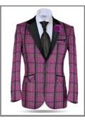 Mens Pink Suit