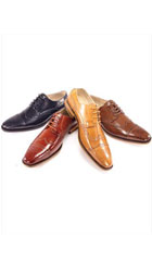 Leather Dress Shoes NavyChocolate