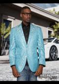 Mens Turquoise Suit