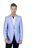 Baby Blue Linen Blazer