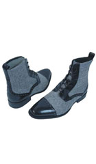 Leather & Tweed Black