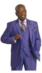 Purple Gangester Suits