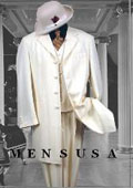Cream Fashion Longer Jacket 3 Button With Mens Vested Suit