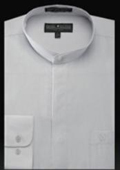 Mens Silver Dress Shirt