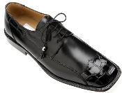 Black Genuine Alligator/Calf Shoes