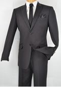 Slim Fitted Black Suits