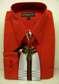 Mens Red Shirt Tie