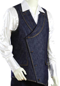 2pc Denim Vest Sets-