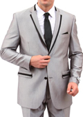 Front Closure Slim Fit Suit