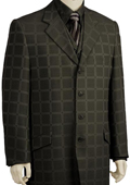Stylish Black Checked Pinstripe