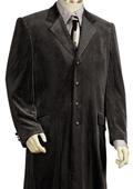 Men's 4 Button Black Suit