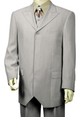Grey Fashion Vested Zoot Suit