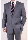 Grey Two-button Peak Lapel