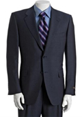 Mens Navy Pinstriped Wool-Mohair
