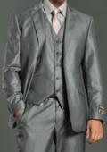 Men's Two Button Light Grey Suit
