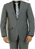 Button Light Grey Suit