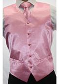 Men's Shiny Pink Microfiber 3-piece Suit