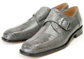 Belvedere Grey Genuine Ostrich