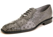 Men's Grey Genuine Ostrich
