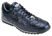 Navy alligator sneakers