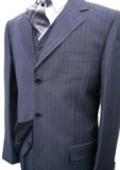 Mens Navy Blue Suit