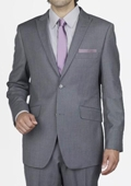 Grey Mini Stripe Slim Suit