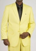 2 Button Yellow Suit