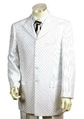 Men's 3 Buttons Suit White color