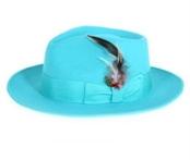 Cyan Fedora Hat $49