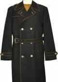Denim Black Trench Coat