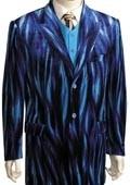 Long Zoot Suit Blue
