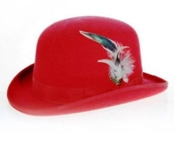 Red bowler derby style