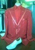 Men's Purple Shiny 2-button Suit