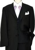 Solid Black Wool &