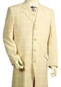 Mens Stylish Zoot Suit Cream