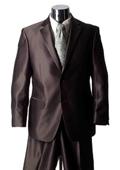 Men's Brown Sharkskin Suit