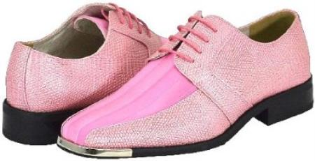 Mens Pink Dress Shoes - RP Dress