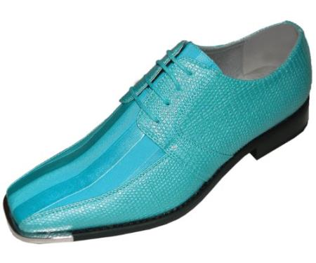 Men White And Turquoise Dress Shoes - Homemade Porn